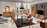 Baumkante-Tisch Salito aus Massiv-Holz 180x90 cm   echte Baumkante   Kufen-Gestell in Silber   Natur Esstisch aus Akazie
