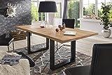 Holzwerk Esstisch Wildeiche Massivholztisch Tisch Baumkante Eiche Esszimmer 220x100 Natur geölt