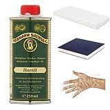 Arbeitsplattenöl Holzöl   Hartöl farblos für Holz   Möbelöl für Tische Möbel   Leinöl Holzschutz besonders für Eiche Wildeiche Kernbuche Buche Nussbaum Kiefer im Innenbereich (250ml Set)