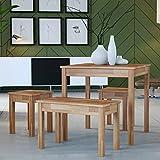 Krok Wood Esstisch Tomas aus Massivholz in Buche (75 x 50 x 75 cm)