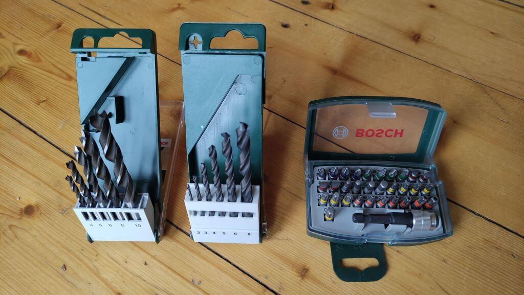 Holzbohrer, Metallbohrer und Bits für den Bosch EasyDrill 1200